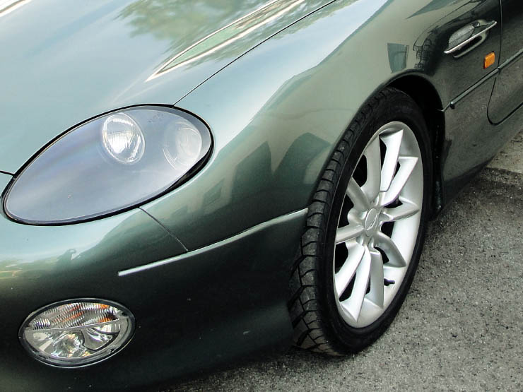 Green DB7 Front and Wheel